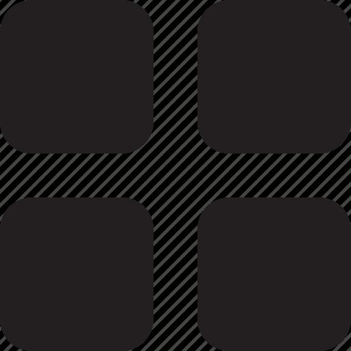 big, grid, list, menu icon