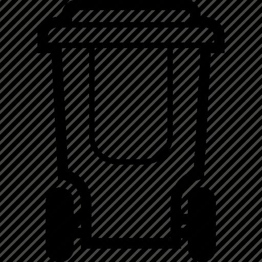 can, garbage, rubbish, trash, waste, wheel icon