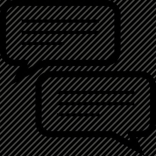 bubbles, chat, conversation, discussion, speech, talk icon
