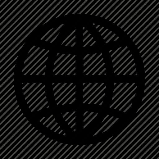 ball, basket, circle, earth, globe, lines, planet icon
