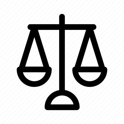 judge, law, lawyer, libra, measure, scale icon