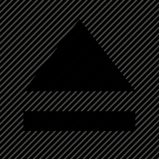 arrow, media, open, player icon