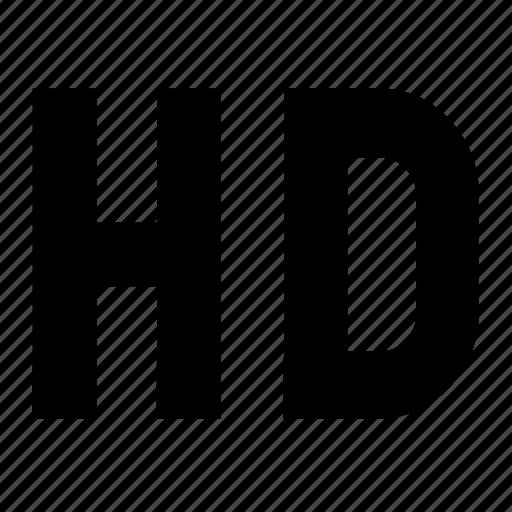 hd, hd quality, media, multimedia, player, video icon
