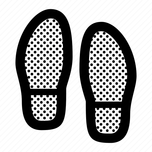 Foot, footprints, footsteps, shoes icon