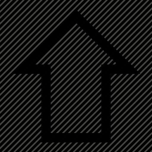 align, arrow, orientation, top, up, vertical icon