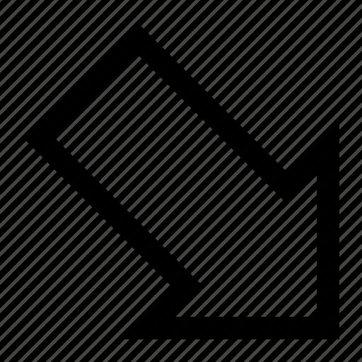align, arrow, bottom, orientation, position, right icon