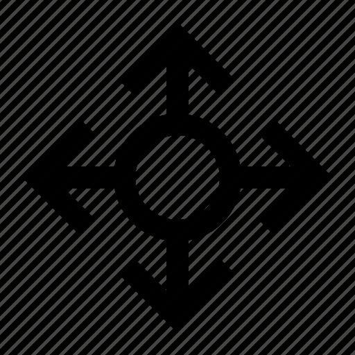 arrows, direction, four, move, orientation, points icon