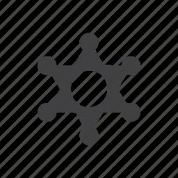 badge, sheriff icon