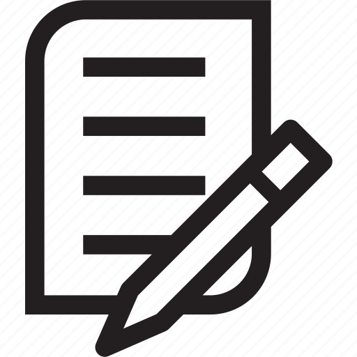 book, list, paper, pencil, record, word icon