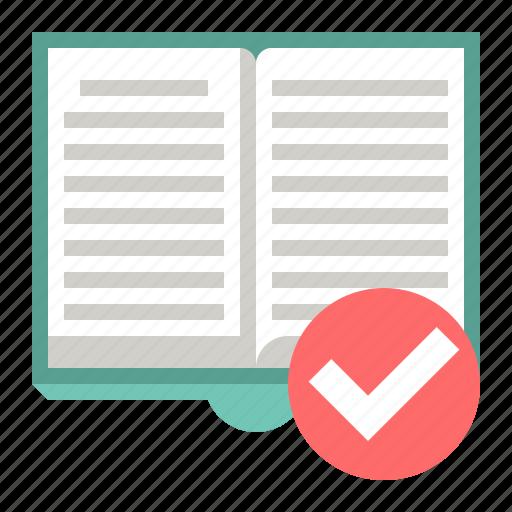 accept, book, check, mark icon
