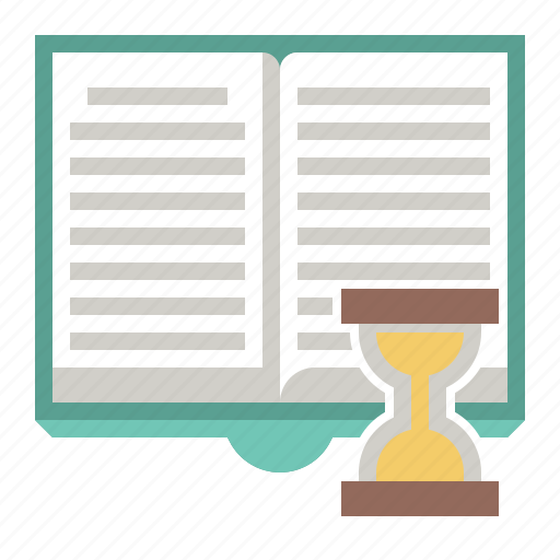 book, open, time icon