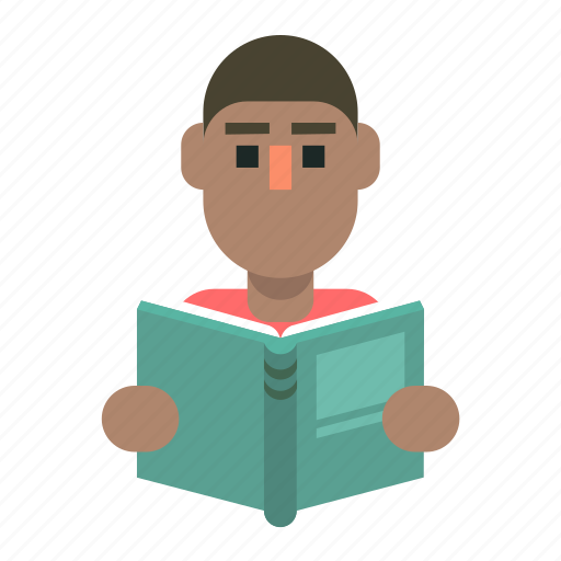 Book, learning, man, reading icon - Download on Iconfinder