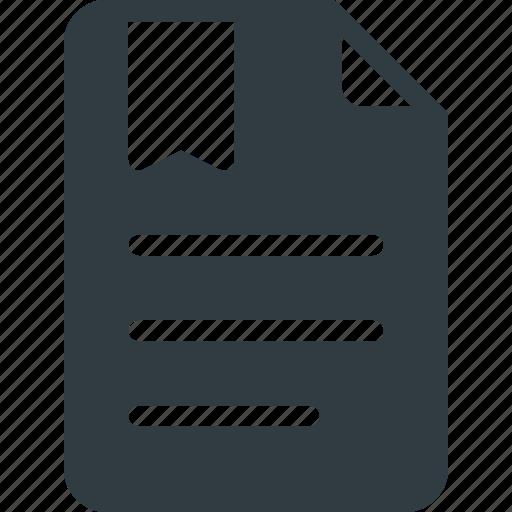 bookmark, favorite, file, tag icon