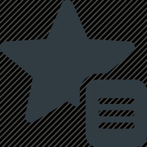 bookmark, favorite, list, star, tag icon