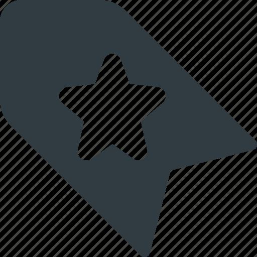 bookmark, favorite, star, tag icon
