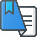 bookmark, favorite, leaflet, tag icon