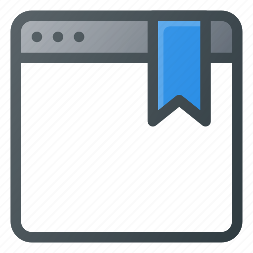 bookmark, favorite, page, tag icon