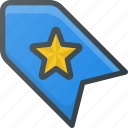 bookmark, favorite, star, tag icon