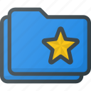 bookmark, favorite, folder, star, tag icon