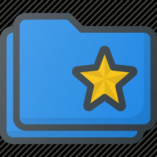 bookmark, favorite, folder, star, tag icon