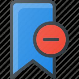 bookmark, favorite, remove, tag icon