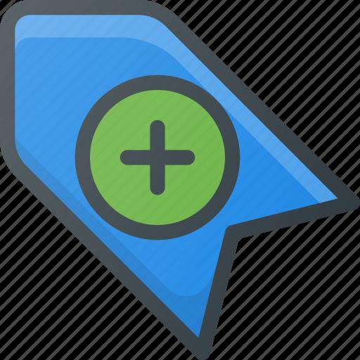 add, bookmark, favorite, tag icon