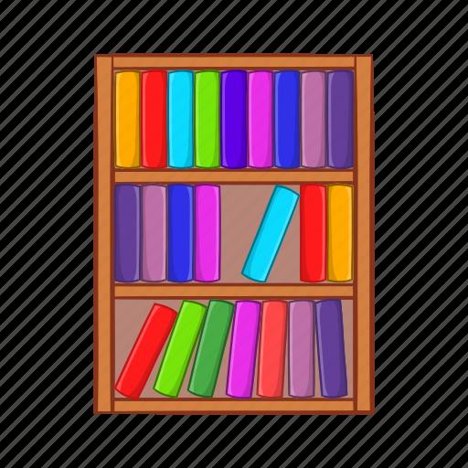 Books cartoon education learning literature shelf - Estante para libros ...