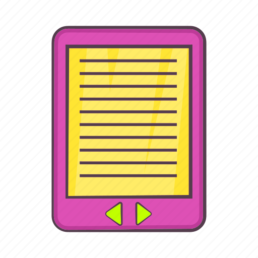 cartoon, e-book, education, learning, literature, page, sign icon