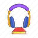 audio, book, cartoon, education, learning, literature, sign icon