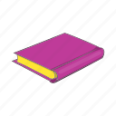 book, cartoon, education, learning, literature, pink, sign icon