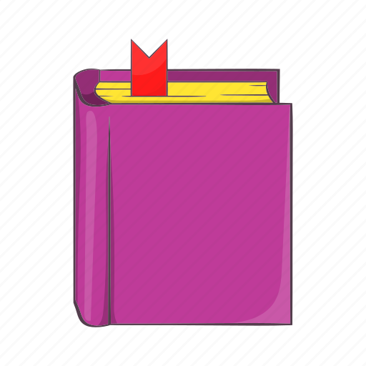 book, bookmark, cartoon, education, learning, sign, thick icon