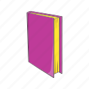 book, cartoon, education, learning, literature, page, sign icon
