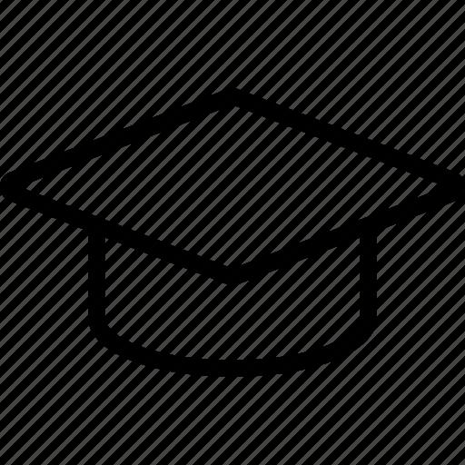 graduate cap, headdress, learning, training icon