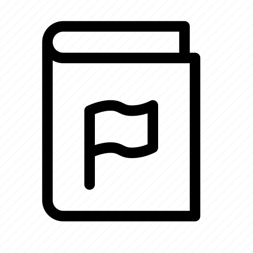 book, bookmark, ebook, flag, report icon