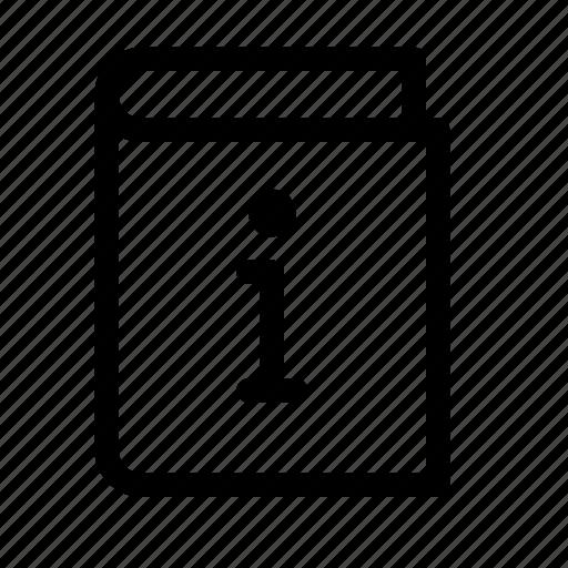 Book, description, ebook, info, information, novel, publish icon - Download on Iconfinder