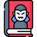 book, horror, education, halloween, scary, science, study icon