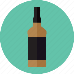 alcoholic drink, bottle, drink bottle, jack daniels, whisky icon