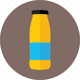 beverage, bottle, cappy, cappy juice, non-alcoholic beverages, orange juice icon