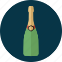 bottle, celebration beverage, champagne, champagne bottle, new year, party, wine icon