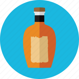 alcohol, bottle, brandy bottle, drink, drinks, four rosses icon