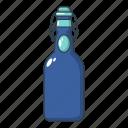 bottle, bung, cartoon, logo, mineral, object, water