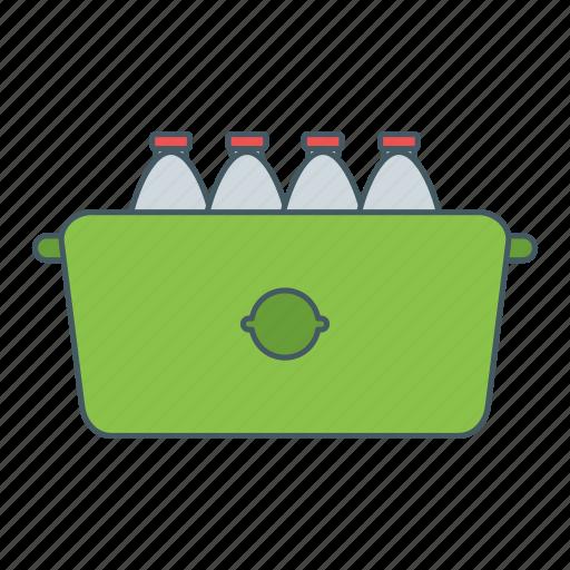 bottles, market, rack, water icon