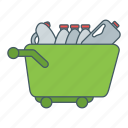 bottles, cart, market, sell icon