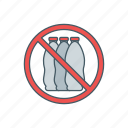 bottle, drink, forbidden, warning icon