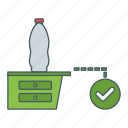bottle, place, position, right icon