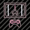 console, gamepad, gaming, television