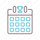 calendar, cup, daily, events icon