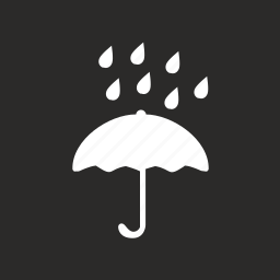 box, drops, package, product, safety, umbrella, water icon