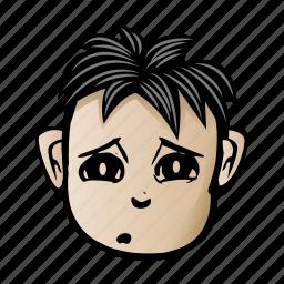 cartoon, face, male icon