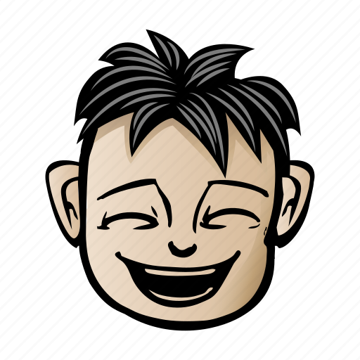cartoon, face, male icon